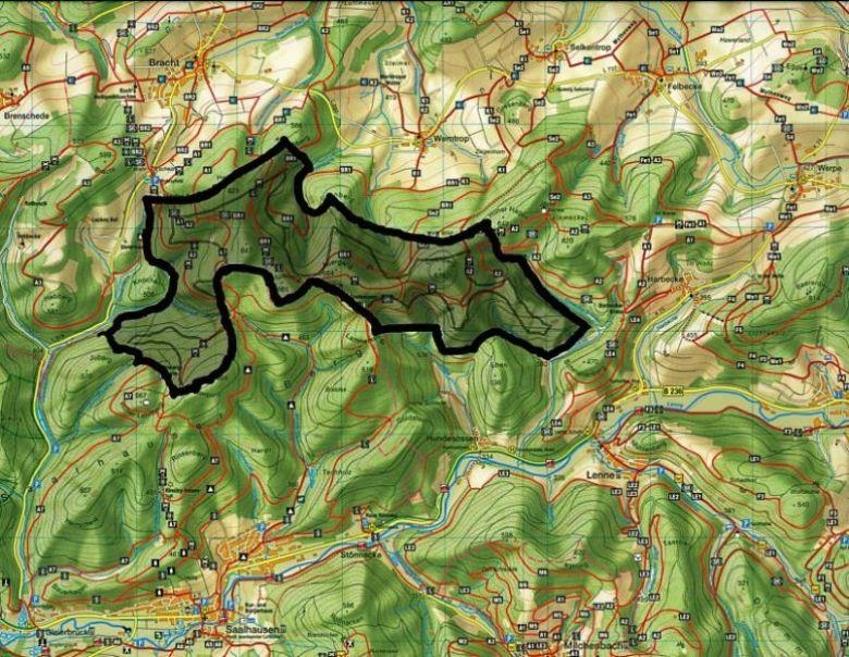 Sauerland Karte Berge.Karten Windpark Burgerinitiative Hohenzuge Saalhauser Berge
